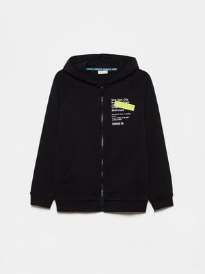 Толстовка черная с логотипом | 5651328
