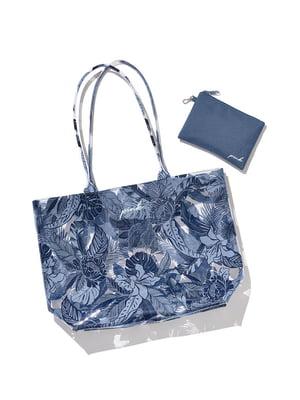 Сумка синяя с цветочным принтом | 5665017
