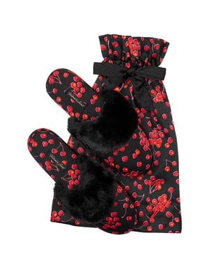Тапочки черные с принтом | 5665195