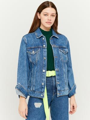 Куртка джинсовая синяя | 5666439