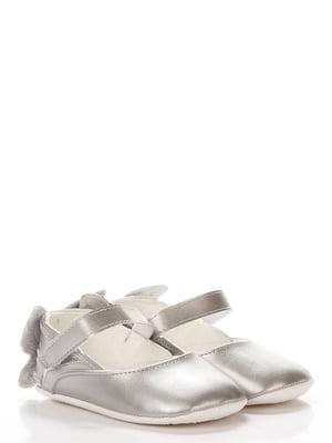 Пінетки-туфельки сріблястого кольору | 5666492