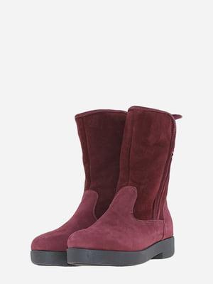 Ботинки бордовые | 5662918