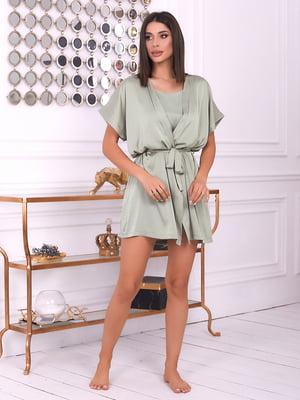 Халат оливкового цвета | 5666607