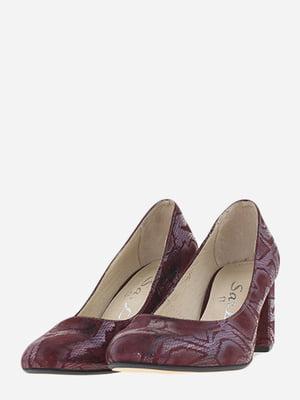 Туфлі бордові в анімалістичний принт | 5656534