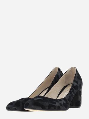 Туфлі чорні в анімалістичний принт | 5656541
