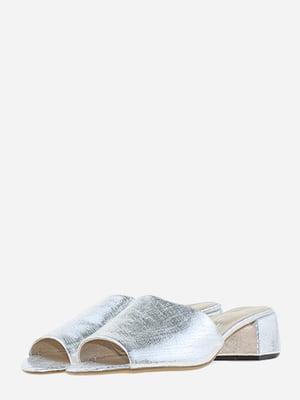Сабо сріблястого кольору | 5656566