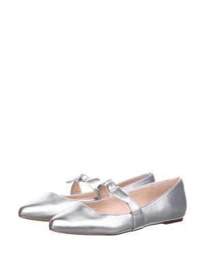 Балетки сріблястого кольору | 5667666