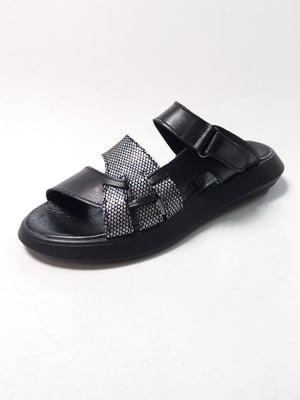 Сандалии черные с декором | 5667931