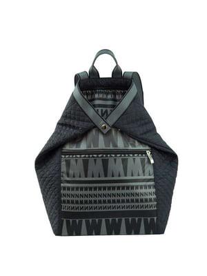 Рюкзак черный в принт | 4021866