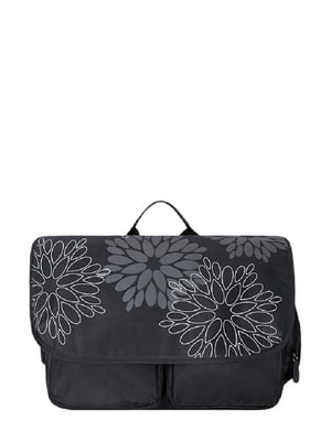 Сумка для ноутбука черная с рисунком | 4419007