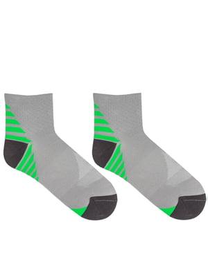 Носки серые в полоску | 5664819