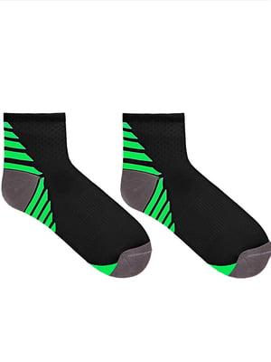 Носки черные в полоску | 5664820