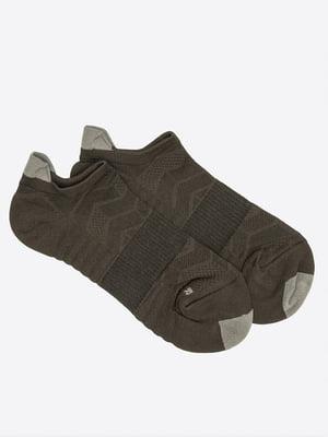 Шкарпетки кольору хакі з візерунком | 5664821