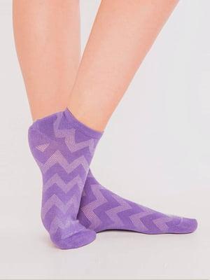 Носки лавандового цвета в зигзагообразную полоску | 5664840