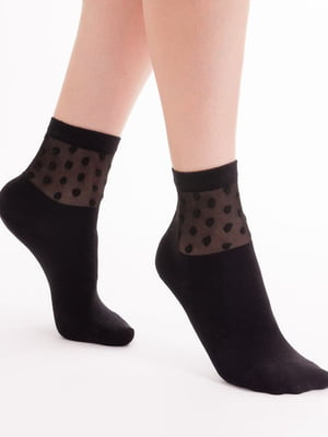 Носки черные в горошек | 5664843