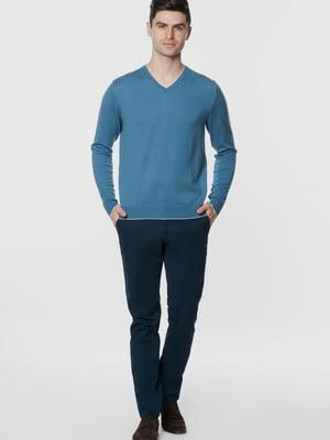 Пуловер синій | 5668821