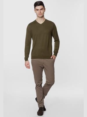 Пуловер цвета хаки | 5668822