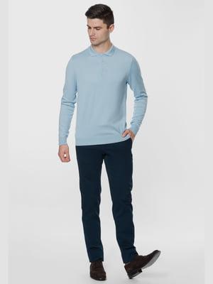 Джемпер-поло голубого цвета | 5668825