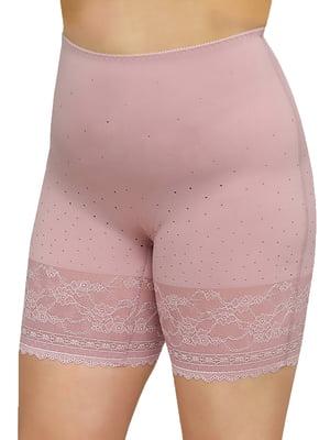 Панталони бузкового кольору в цятку і з візерунком | 5664757