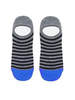 Шкарпетки сіро-блакитного кольору в смужку | 5664816