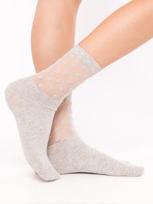 Носки серые с горошек | 5664842