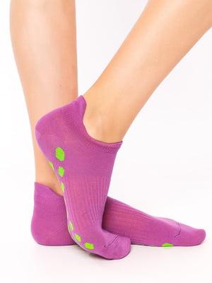Носки фиолетовые в горошек | 5664844