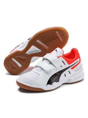 Кросівки біло-червоного кольору | 5670334