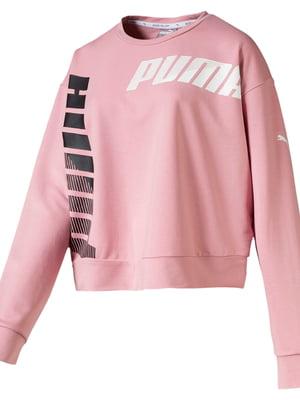 Світшот рожевого кольору з логотипом | 5670446