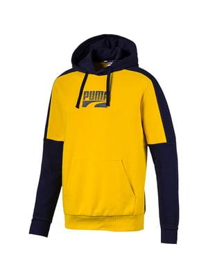 Худи сине-желтого цвета с логотипом | 5670469