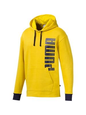 Худи желтая с логотипом | 5670471