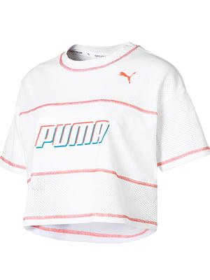 Футболка біла з логотипом | 5670671