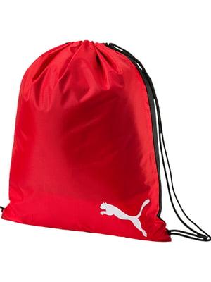 Сумка-мішок спортивна червоного кольору | 5670725