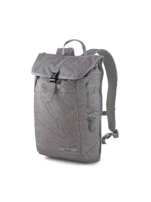 Рюкзак сірий з логотипом і принтом | 5670790