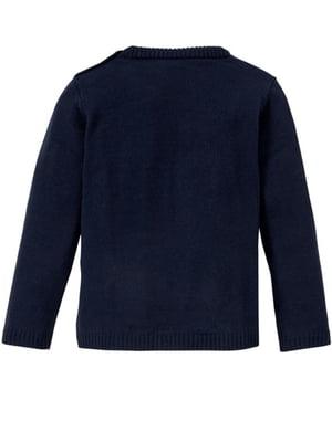 Джемпер темно-синий с рисунком | 5672302