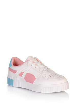 Кросівки біло-рожевого кольору | 5672601