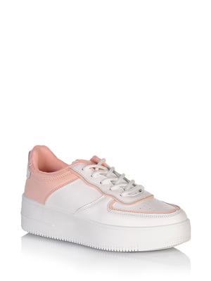 Кросівки біло-коралового кольору   5672603
