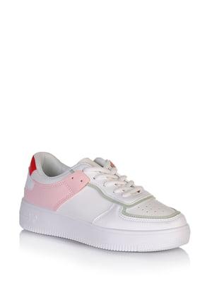 Кросівки біло-рожевого кольору | 5672605