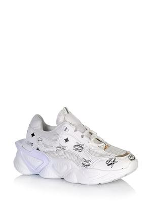 Кросівки білі з принтом | 5672609