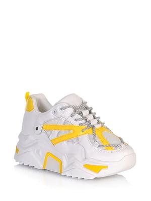 Кроссовки бело-желтого цвета   5672619