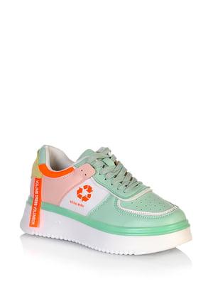 Кросівки комбінованого кольору з логотипом | 5672630