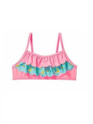 Топ купальний рожевий в принт | 5671932