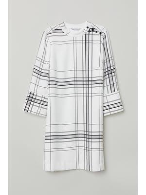 Платье белое в клетку | 5237626