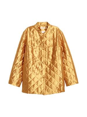 Куртка золотистого цвета | 5239329