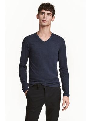 Пуловер синий | 5666645