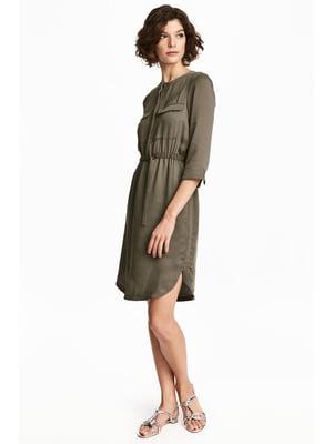 Сукня кольору хакі | 5666838