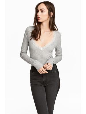 Пуловер сірий | 5666844