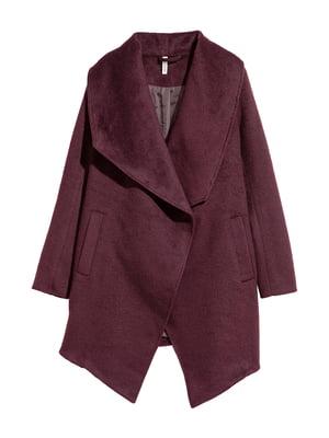 Пальто бордовое | 5666970