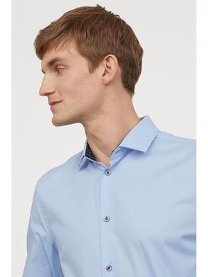 Сорочка небесно-блакитного кольору | 5667030