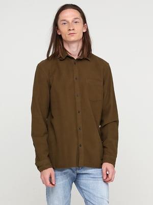 Сорочка кольору хакі | 5667148