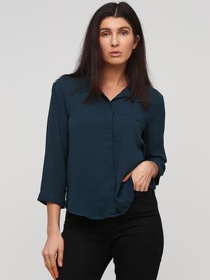 Рубашка темно-зеленая | 5667273
